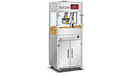 Why does the popcorn machine made by the hing cook make the popcorn special?